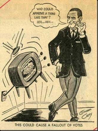 Daisy Ad, LBJ Cartoon.