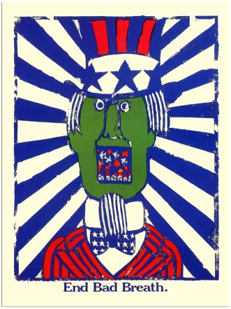 Push Pin 'End Bad Breath', Seymour Chwast, 1967