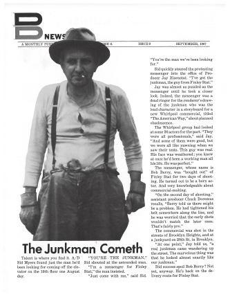 DDB Cover 'Junk Man', Sid Myers