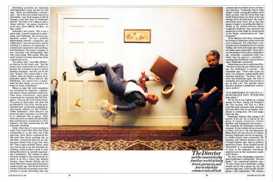 Joe Sedelmaier, Esquire article 1r, 1983