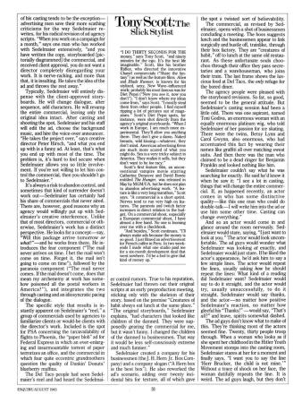 Joe Sedelmaier, Esquire article 2, 1983