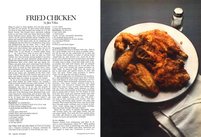 Phill Marco 'Fried Chicken', Esquire