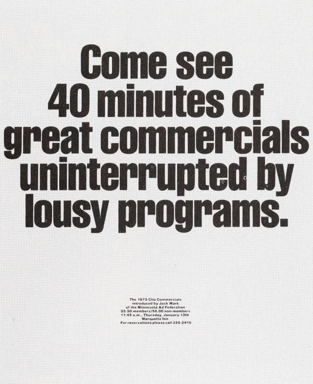 'Come See 40' Clio, Tom McElligott, Ron Anderson, Bozell-01.jpg