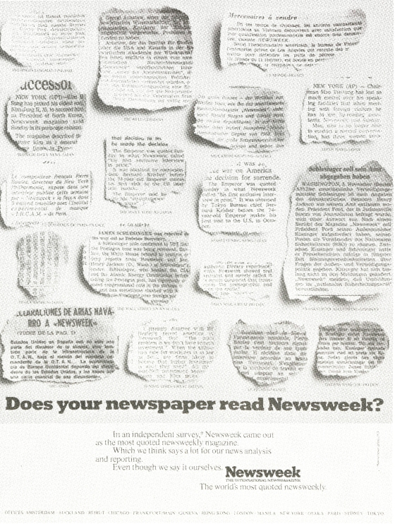 'Does Your Newspaper'How Is China' Newsweek, John Hegarty, TBWA-01.jpg
